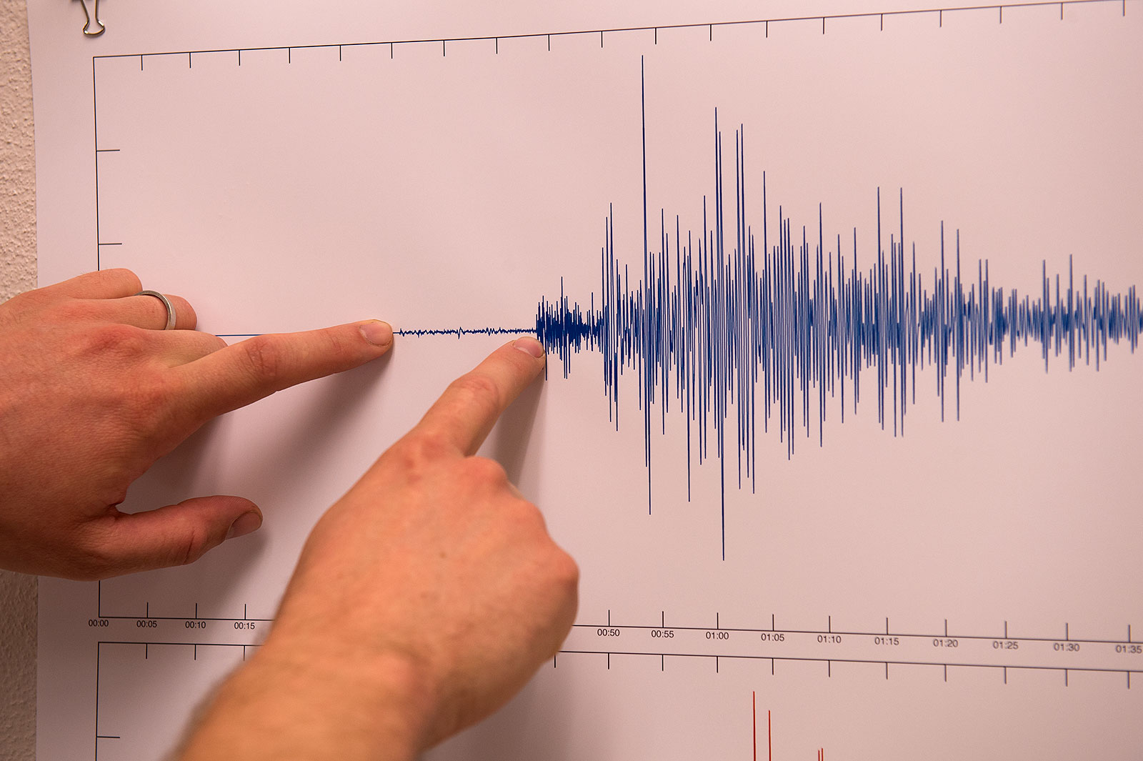 readings from seismometer